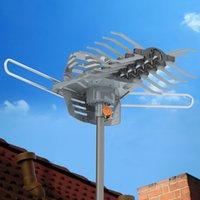 Высокой четкости 1080p открытый длинный диапазон антенны усиленный 28-36дб 360 градусов цифровой сигнал антенны ласточкин хвост направляющая без подставки