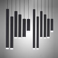 Yaratıcı Kolye Işıkları, Modern Mutfak Lambası Yemek Odası Bar Sayacı Dükkanı Boru Kolye Işıkları Mutfak Işık, Silindir Alüminyum