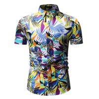 Printing Mens Shirt Hawaiian Shirts Summer Short Sleeve Shir...