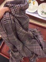 Markalı Kadınlar Sıcak Püskül Yün Ekose Eşarp Lady Kaşmir Atkılar Gökkuşağı Geniş Kafesler Uzun Şal Wrap Battaniye Tippet