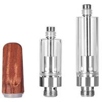 10 шт. Тележки Dabwoods 1.0 мл 0,8 мл Керамический распылитель TH205 Vape Dank Wood картридж картридж 510 резьбовой картридж G5 AC1003