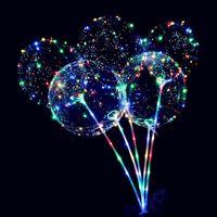 Новые светодиодных лампы шаров ночного освещения Бобо Бал Multicolor украшение шар свадебных декоративные Яркая Зажигалка шары с палкой