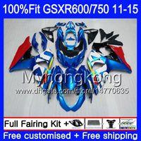 Injection For SUZUKI GSXR 600 750 GSXR750 11 12 13 14 15 16 298HM.9 GSXR-600 K11 GSXR600 2011 2012 2013 2014 2015 2016 factory blue Fairing