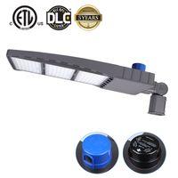 DLC ETL LED Shoebox Pólo Luzes de Estacionamento, 300W 480W 5000K Fiação Direta AC 100-277V, Luz de rua IP65, Photogell grátis