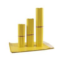 17 * 25cm gelbe Kurierbeutel Selbstsiegel-Postsack-Kunststoff-Poly-Mailing-Umschlag wasserdichte Post-Taschen Express-Umschläge