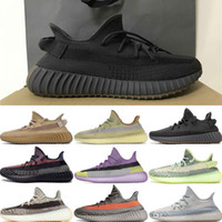 Neue Rücklicht Kanye West Marsh Lauf Sneaker Yeezreel Static Reflective Yeshaya Yecheil Cinder Weiße Sportschuhe Flax Top-Qualität Schuhe