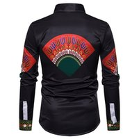good quality Spring Shirt Of Men African Print Long Sleeve S...