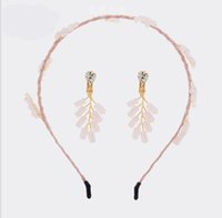 Corona de pelo de cristal Aro de pelo coreano 5 tipos de combinación de colores tocado hecho a mano
