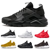 Wholesale Huarache 4. 0 1. 0 Triple White Black red men women ...