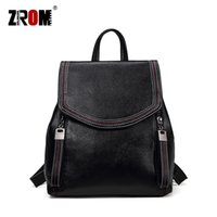 ZROM Brand Women Backpack High Quality Genuine Leather Backp...