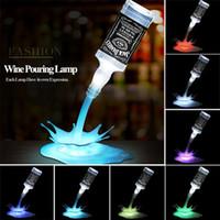 Novidade Despeje a lâmpada LED Night Light Vinho Despeje Vinho 3D Recarregável USB Toque Interruptor Fantasia Garrafa De Vinho Decoração Bar Lâmpada Do Partido