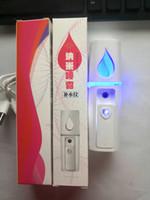 Dropshipping GRATUITAMENTE portatile nano nebbia spruzzatore per corpo facciale vapore idratante cura della pelle mini usb viso spray strumenti di bellezza con specchio