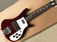 Free shipping red 4 strings 4003 Ricken electric bass guitar...