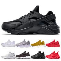 Sıcak Huarache 4.0 1.0 Erkekler Kadınlar üçlü siyah beyaz altın kırmızı Koşu Ayakkabıları huaraches Eğitmen erkek Spor ayakkabı Sneakers Eur 36-45