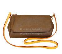 Las mujeres de cuero del hombro Messenger Bag cruzada cuerpo bolso caso cosmético con el número de serie