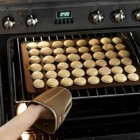 48 Holes Silicone Macarons Macaroon Pastry Cake Cookies Muffin Oven Baking Sheet Mat Mould SQ263