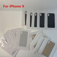 Vidro traseiro para o iPhone X XR XS XSMAX bateria tampa traseira Porta Habitação Big Mantenha todas as cores