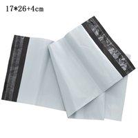 17x26 + 4 سنتيمتر ذاتية اللصق الأبيض مغلف بريدية التعبئة حقيبة بلاستيكية اكسبريس ميلر الشحن التغليف الحقائب الحقيبة أكياس التخزين بالجملة