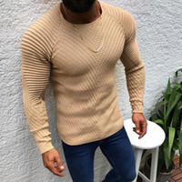 OEAK Mens Slim Casual Sweater Personality fashion Woven stit...