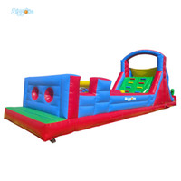 Curso de obstáculo inflável Curso Bouncy Combo Slide PVC Tarpaulin Bounce Casa para crianças
