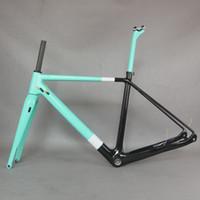 Пользовательские рамки краски TORAIL Carbon Fibre T700 Front Fork 100 * 15 мм BSA нижний кронштейн плоский коммутационный дисковый тормозной гравийный велосипед рамка GR029