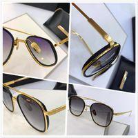 Vintage Retro gafas de sol clásico cuadrado redondo oro marco vidrio UV400 103