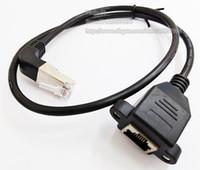 Yüksek Kalite Up Açılı 90 Derece RJ45 Erkek Kadın Vida Paneli Dağı Ethernet LAN Ağ Uzatma Kablosu 60 cm / Ücretsiz Kargo / 2 adet