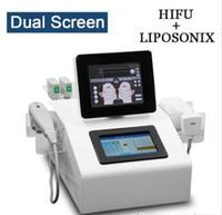 Alta qualità Liposonix HIFU Ul trasonic 2 in 1 Viso ringiovanimento della pelle rimozione delle rughe macchina terapia ad ultrasuoni LipoSonix dimagrante