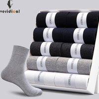 Мужские носки Veridical 10 пар / лот 2021 хлопок стили черные твердые деловые мужчины работают дышащее весна летом для мужчин