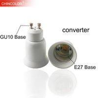 Led Lamp Base Converter GU10 to E27 Screw Bulb Holder Adapter Socket Plug Extender PBT Plastic Safty Fast Ship JQ