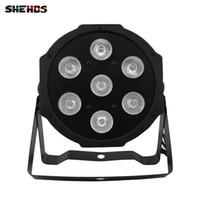 SHEHDS LED الاسمية شقة 7x12W 4in1 RGBW الإضاءة Dmx512 ديسكو أضواء المرحلة المهنية معدات DJ المرحلة الإضاءة تأثير