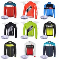 SCOTT Team Radfahren Winter Thermo Fleece Trikot Herren Langarmshirts Mountainbike Sport Reitbekleidung Q62046