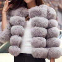 Faída femenina 5xl Mink abrigos mujeres 2021 invierno pink abrigo elegante grueso cálido ropa exterior chaqueta falsa chaquetas chaquetas df594
