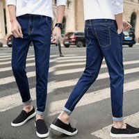 New Fashion Men Neunte Hosen Skinny Slim Fit Denim Jeans Beiläufige Lange Hosen Hosen