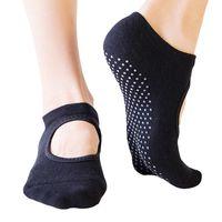 Großhandel Frauen Anti Slip Ballett Handtuch Buttom Yoga Socken Boden Startseite Sox Strick Backless Sports Fashion Accs