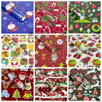Papel de envolver Decoración de Navidad Caja de regalo de bricolaje paquete historieta del papel de Santa Claus muñeco de nieve ciervos Presente Papel de envolver VT1107