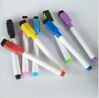 新しい2019年8個/セット子供のペンのホワイトボードの消去可能な乾燥消去マーカーペンが消しゴムの学用品