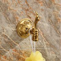 NUEVO diseño ACCESORIOS DE BAÑO 24k GOLD FLOWERS robe hook C