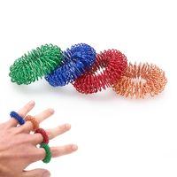Sensorial Dedo Anel de Massagem Acupuntura Anel de Cuidados de Saúde Corpo Massageador Relaxar Massagem nas Mãos Dedo perder Peso