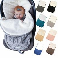 Cálido bebé Manta de algodón de punto Recién nacido Swaddle Wrap Baby Soft Soft Soft Save Sleepsacks Mochila Cochecito Accesorios D1750N15