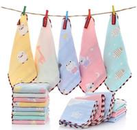 6 طبقة القطن منشفة الشاش ساحة الطفل الأطفال المطبوعة اللعاب منشفة مزدوجة الشاش رقيقة صغيرة مناديل الطفل مناديل منديل