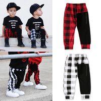 Kinder Jungen Gitter Hosen Mode Boutique Casual Kinder Plaid Elastic Hose 2020 Frühling Sommer Baby Harem Hosen Kleidung M1107