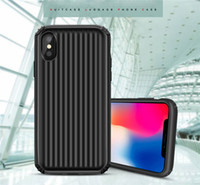 Moda bonito da bagagem do telefone case para iphone x xs max x8 7 6 s plus anti batida tpu + tampa do pc para samsung galaxy note8 note9 s8 s9 mais coque