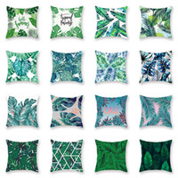 Tropical Plant Pillowcase Cushion Cover Glamour Square Pillo...