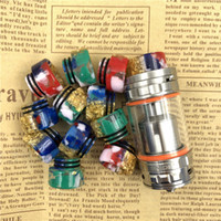 810 TFV8 Drip Tip Wide Bore Epoxy Resin Half Dollar Drip Tip...
