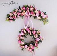 European Artificial Wreath Door Threshold Flower Diy Wedding Home Living Room Party Pendant Decor Christmas Garland Gift Rose