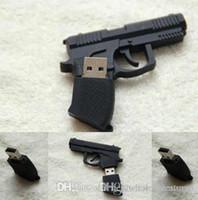 Discout Creative UK0001 Pistol Cartoon USB Flash Drive Machine Gun Usb Pen Drive 4GB 8GB 16GB 32GB 64GB Pendrive Plastic U Disk UK0001 u81
