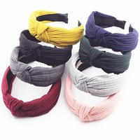 Knot Cross Tie Solid 1 PC Fashion Hair Band Hairband Knitted...
