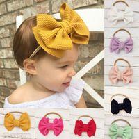 Yeni Avrupa Bebek Kız Big Bow Baş bandı Çocuklar Çift Katmanlar ilmek Hairband Çocuk Bandana Kafa Bandı 14941