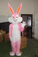 2019 High quality hot Easter Pink Bunny Rabbit Bugs Mascot C...